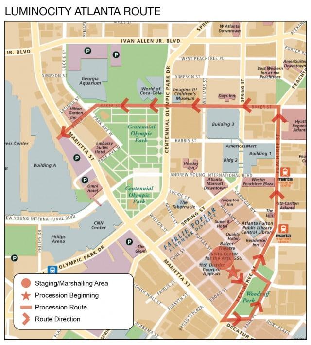 Luminocity Atlanta Route Map